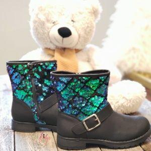 Girls reversible sequin mermaid boots
